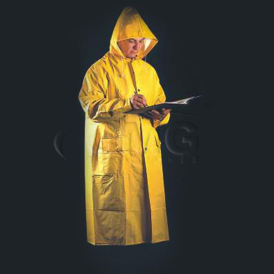 abrigo en pvc con capucha