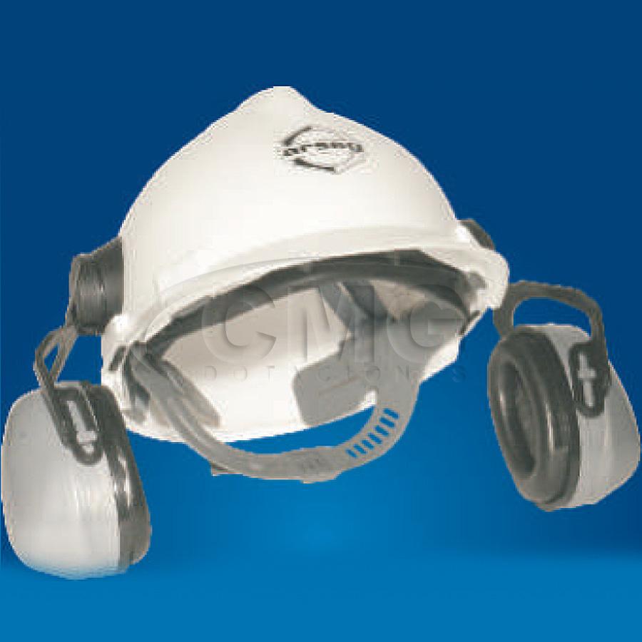 Protector auditivo tipo copa en casco